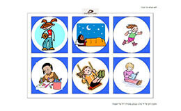 מבטים, קולאז' תמונות ילדים, שיטת aba